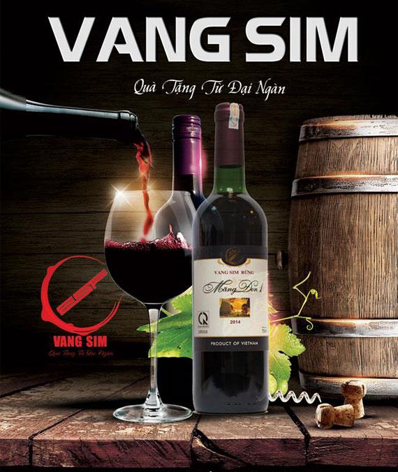 Rượu Vang Sim Rừng Thiên Sơn 14%Vol 375ml