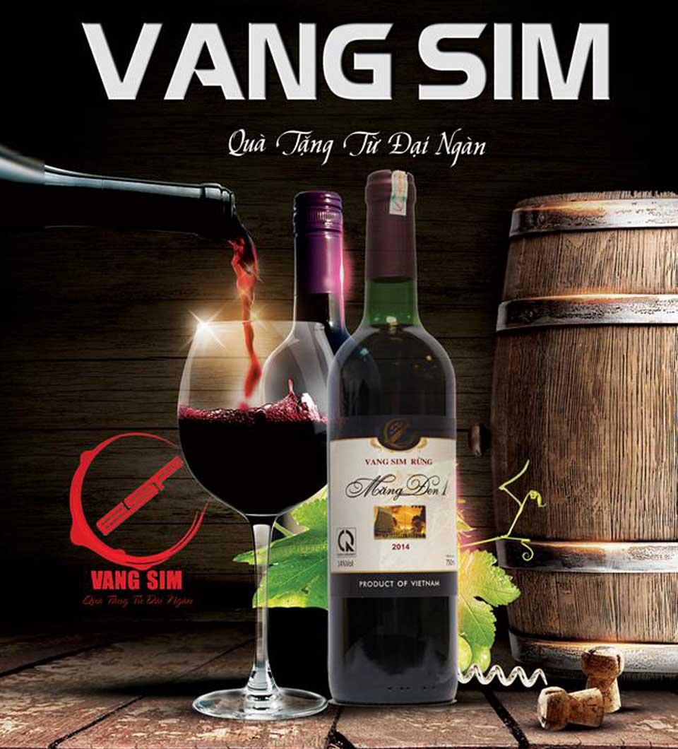 Rượu vang sim rừng Măng Đen, rượu sim, nước ép từ trái sim rừng, nước ép chanh dây, nước chiết sâm dây ngọc linh