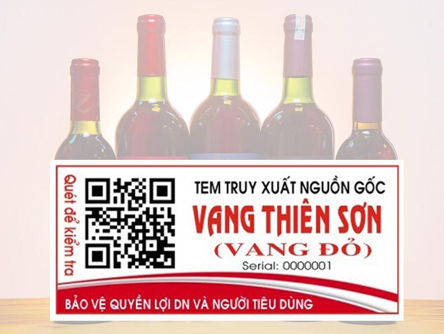 Thông báo áp dụng mã QR-code trên sản phẩm Vang Sim